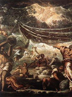 The Miracle of Manna (detail) : TINTORETTO : Art Images : Imagiva