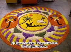 Onam Pookalam Designs for Competition, Best Onam Pookalam Designs