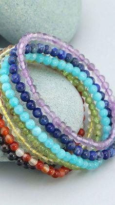 Healing energy gemstone bracelets Gemstone Bracelets, Gemstone Beads, Healing Gemstones, Gemstone Colors, Crystals, Jewelry, Jewlery, Jewerly, Schmuck
