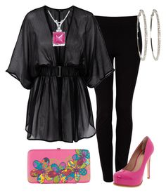 Fucsia y Negro by outfits-de-moda2 on Polyvore featuring moda, H&M, DKNY, Pour La Victoire and Full Tilt