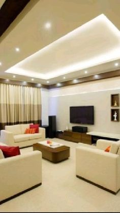 House Ceiling Design, Ceiling Design Living Room, Bedroom False Ceiling Design, Room Design Bedroom, Bedroom Furniture Design, Living Room Lighting Ceiling, False Ceiling Living Room, Living Room Decor, Bedroom Ideas