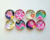 Sunny Days - set of 8 glass magnets