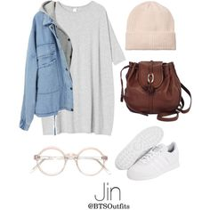 Getting his attention at a Concert by btsoutfits on Polyvore featuring polyvore, fashion, style, Monki, Brighton, adidas Originals and clothing