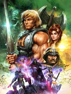 Great illustration of Masters of the Universe.                                                                                                                                                     Más