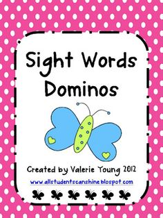 Sight Words Dominoes  -  Pinned by @PediaStaff – Please Visit http://ht.ly/63sNt for all our pediatric therapy pins