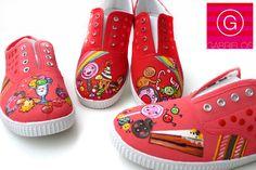 zapatillas customizadas y pintadas a mano  http://www.facebook.com/gabrieloshoes
