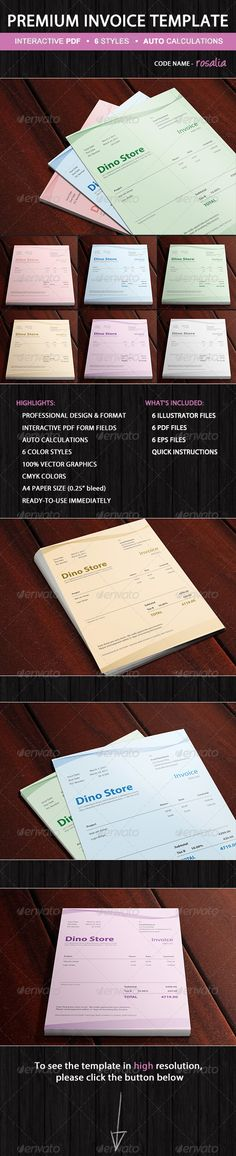 Dentist Invoice Template  Blanca  Medical Graphicriver Invoice