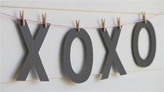 mini clothespins + baker's twine