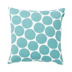 Spira Pom Pom Light Blue Cushion: The Spira Pom Pom cushion has a playful design of irregular turquoise spots that will brighten any sofa and add a little cheer.