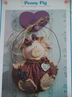 Craft Sewing Pattern Penny Pig 1992 OOP Needle in a Haystack by Bonnie Hunter - Etsy Linda Harvey