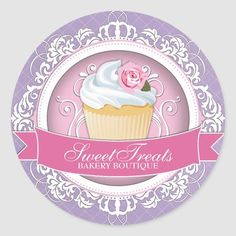 Bakery Box, Cupcake Bakery, Cupcake Boxes, Bakery Cakes, Elegant Cupcakes, Beautiful Cupcakes, Cupcake Packaging, Packaging Stickers, Cupcake Couture