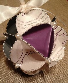 Invitation Ornament - Handmade from your special occasion invitation