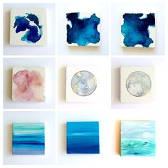 Getting to know Chelsea Kramer from Victoria, British Columbia (Lost Coast Studio) Spotlighting Handmade Creatives from across the Country. Watercolor Artwork, Abstract Paintings, Which One Are You, Mini Canvas, Shout Out, Your Favorite, Victoria British, Artisan, Coast