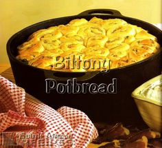 South African Recipes BILTONG POTBREAD (Make Your Own Biltong and Droëwors, pg.14) South African Dishes, South African Recipes, Braai Recipes, Cooking Recipes, Ma Baker, Kos, Biltong, Mouth Watering Food, Different Recipes