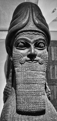 A Lamassu from the palace of Assyrian king Sargon II at Dur-Sharrukin. At British Museum.