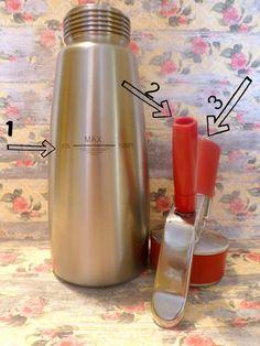 LA CUINERA: Cómo usar un sifón de espumas y granizado de fresas con espuma de Gintonic
