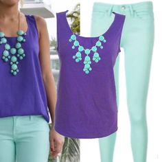 Pretty Purple Tank Top Pretty purple tank by Coldwater Creek. Flattering scoop neckline with a little cinching. Perfect for summer with shorts, jeans or great for layering. I have this top in several other colors just ask. Unlimited styling possibilities Coldwater Creek Tops Tank Tops