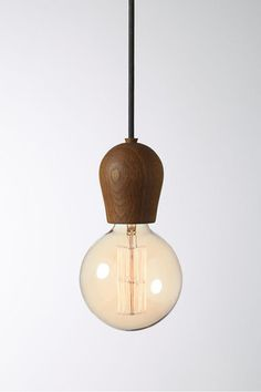 Nordic Tales Wooden Pendant Light Cord in dark or light smoked colours - Fat Shack Vintage - Fat Shack Vintage