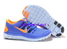 F51024 Mens Nike Free 5.0 Blue Orange Shoes