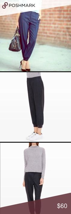 Club Monaco Briton Cropped Pants/Joggers - Navy Gently used. Extremely comfortable and warm for cold winter days. Comfy track pants that are also stylish enough to wear to work. Club Monaco Pants Ankle & Cropped