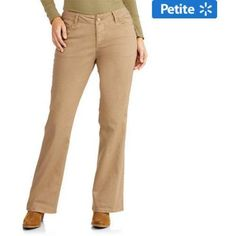 Faded Glory Women's Rockin' Curvy Bootcut Jeans with Flap Back Pocket available in Regular and Petite, Size: 8, Beige