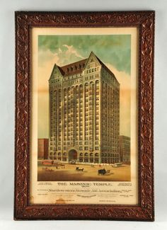 Masonic Temple Advertising Poster. : Lot 431