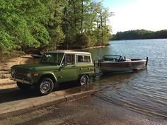 Bronco at the lake