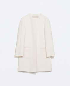 STRUCTURED COAT WITH POCKETS-Coats-Outerwear-WOMAN | ZARA United States