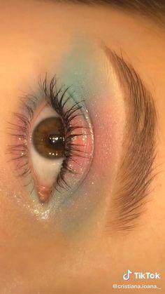 Eye Makeup Steps, Makeup Eye Looks, Eye Makeup Art, Cute Makeup, Eyebrow Makeup, Make Up Yeux, Eye Makeup Designs, Halloween Eye Makeup, Makeup Looks Tutorial