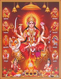 Nav Durga Free Maa Nav Durga Hd Wallpaper Download God In 2019