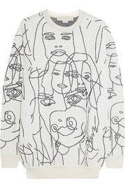 Stella McCartneyGary Hume intarsia cotton-blend sweatshirt