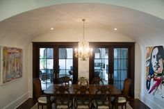 Nice arch to the dining room of this custom-built Talbot Group home.