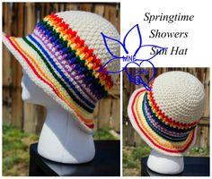 Springtime Showers Sun Hat