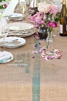 FRENCH COUNTRY COTTAGE: Rustic Table Runner