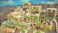 Old adobe/cob town Minecraft Desert House, Minecraft Cottage, Minecraft House Designs, Minecraft Creations, Minecraft Medieval, Minecraft Plans, Minecraft Tutorial, Minecraft Blueprints, Minecraft Earth
