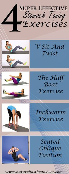 Flat belly can be a real challenge, especially when your workout is not well targeted. Below we recommend 4 stomach toning exercises with fast efficacy.