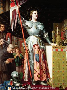 https://flic.kr/p/RxumfX | Jeanne d'Arc au sacre du roi Charles VII, dans la cathédrale de Reims - Jean-Auguste-Dominique Ingres, 1854 | [Tirages meilleure au sein de 42 x 56 cm] [Prints best within 42 x 56 cm / 16 x 22 inches] When I was growing up I knew relatively little about Saint Joan of Arc. This image painted by French artist Jean-Auguste-Dominique Ingres, however, is one of the few things pertaining to her that I was in fact quite familiar with. I remember it intrigued me on a fair…