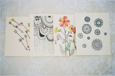 pretty note cards by Pinecone Garden