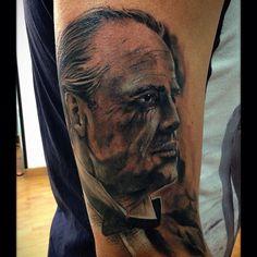 Look el gran padrino inmejorable artista mario de mgr tattoo