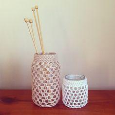 crochet jars. edward & lilly.