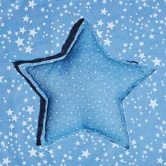 Image 1 of the product KIDS DENIM STAR PRINT CUSHION
