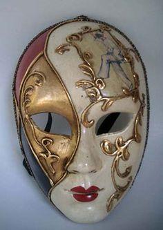Mask Face Paint, Mask Painting, Carnival Of Venice, Carnival Masks, Adult Face Painting, Paint Themes, Paper Mache Mask, Venice Mask, Venetian Masquerade Masks