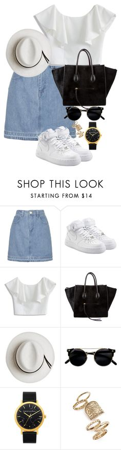"""""""Outfit 155"""" by lexiesimpson on Polyvore featuring Topshop, NIKE, Chicwish, CÉLINE and Calypso Private Label"""