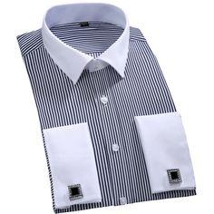 2016 New Cufflinks Men Dress Shirts Fashion Formal Business Wedding French Cuff…