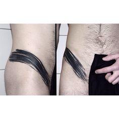 #blackwork #tattoo #brushstroke