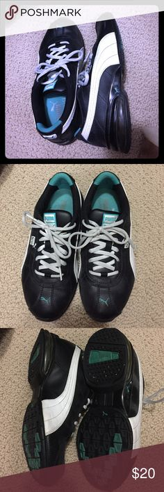 Puma Turin black/White/blue Great workout shoes, good condition. Puma Shoes Athletic Shoes