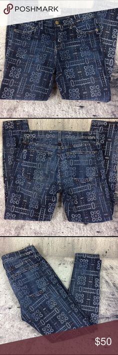 "Anthropologie Current Elliott the bandana jeans Anthropologie Current Elliott the bandana jeans cotton polyester and spandex blend inseam 27"" rise 8.5"" Anthropologie Jeans Ankle & Cropped"