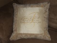 "Monogrammed ""grandparent's"" pillow"