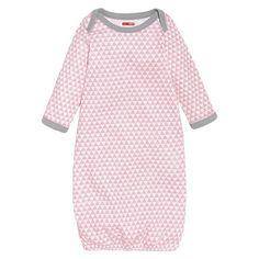 Skip Hop Newborn Girls' Long-sleeve' Gown Pink Azalea NB