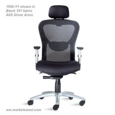 Strata High-Back Executive-Conference Chair - Leather or Fabric Seat & Mesh Back - Heavy Duty Synchro